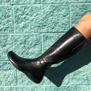 Prada SZ 6 Leather Knee High Boots Shoes